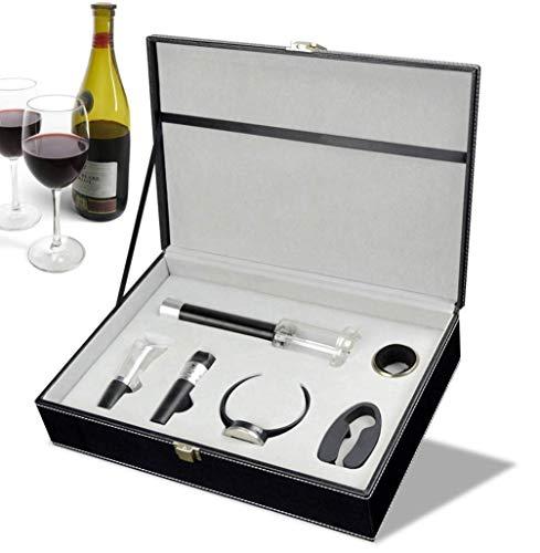 enöffner Weinzubehör-Tool-kit Weinflaschenöffner Folienschneider Ausgießer Stopfen Intelligentes Elektronisches Weinthermometer Und Tropfring (geschenkbox) ()
