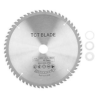 Hoja de sierra circular-Hoja de sierra circular de carburo Disco de corte TCT for metal Madera Plástico 254 * 30 mm 60 dientes