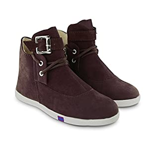 BEPS Stylish Fashionable Trendy Footwear Collection - Suede Ankle Boot For Women & Girl