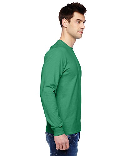 sflr Fruit of the Loom 4,7 Oz, 100% sofspuntm Baumwolle Jersey Langarm T-Shirt grün - Clover