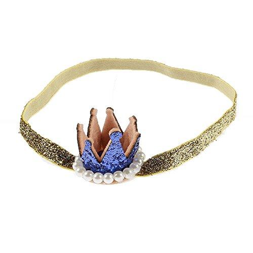 Wenyujh Kinder Haarband King Queen Krone Stirnband Stretch Elastisch Band (Kinder Krone King)