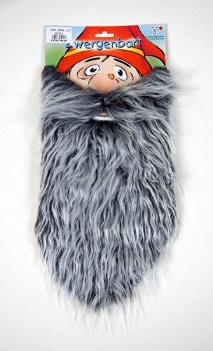 Karneval Zubehör Zwergen Bart in grau zum Kobold Kostüm (Kostüme In Halloween Zwerge)