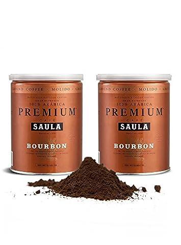 Gemahlener Premium Bourbon Kaffee aus Spanien – 100% Arabica Espresso Mischung vom mehrfach ausgezeichneten Café Saula 500g (2x 250g)