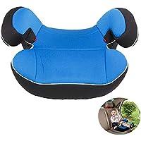 ZYJFP Auto-Kindersitz-Erhöhung Kissen, Tragbare Umwelt Atmungsaktive Booster-Pad, 3-12-Jährige Baby Max Load 36Kg Liegt (Schwarz, Rot, Blau, Gelb),Blue