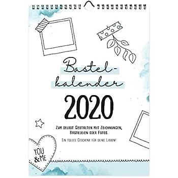 bastelkalender din a4 zum selbst gestalten 2020. Black Bedroom Furniture Sets. Home Design Ideas