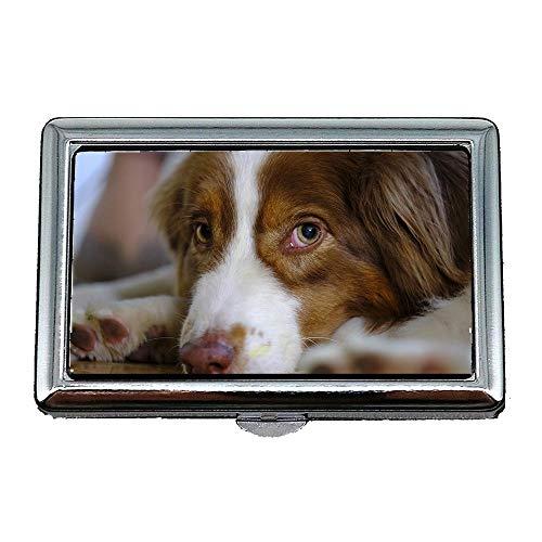 Zigarettenetui, Hund Australian Shepherd Haustier Predator Vieh, Visitenkartenetui Visitenkartenetui ()