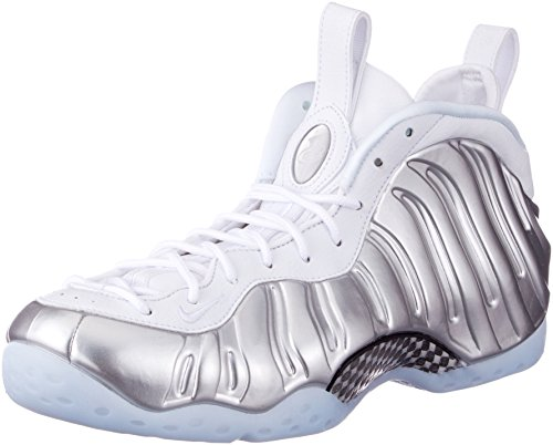 Nike Damen Air Foamposite One Gymnastikschuhe, Silber (White/Blue Tint/Chrome 100), 40.5 EU (Nike Air Foamposites)