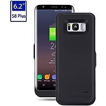 Mondpalast@ Negro Externos 6500mah batería Funda Cargador Para Samsung Galaxy S8 Plus S VIII PLUS s8 plus G955F G9550
