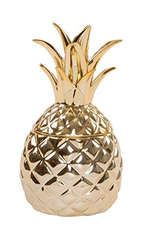 Gold Ananas Schmuckdose
