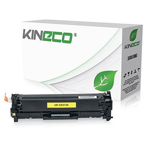 Kineco Toner kompatibel zu HP CE412A für HP Laserjet Pro 300 Color M351a, MFP M375nw, Laserjet Pro 400 Color M451dn dw nw, M475dn dw - 305A - Yellow 2.600 Seiten