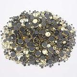 ASTONISH Hot-fix Rhinestones 2500pcs mezcla del tamaño de los cristales Piedras Strass espalda plana de cristal de hierro en tela Crafts diamantes de imitación para la ropa: junquillo, 2500pcs