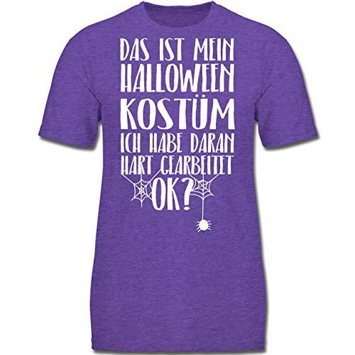 Anlässe Kinder - Das ist Mein Halloween Kostüm - 152 (12-13 Jahre) - Lila Meliert - F130K - Jungen Kinder T-Shirt