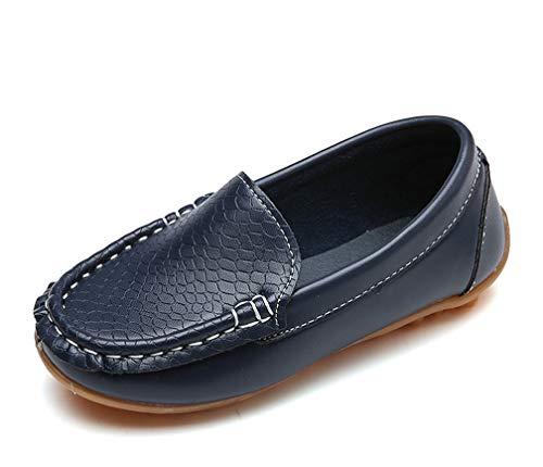 Amitafo Mocasines Cuero Niños Moda Casual Zapatos