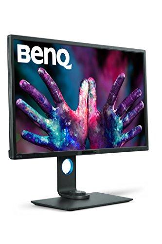 BenQ PD3200Q 32-inch 2K QHD Designer Monitor (2560 x 1440, 2K QHD, 100% Rec 709, sRGB, CAD/CAM, Animation, Darkroom Mode, KVM, Hotkey Puck, DualView, Low Blue Light, Flicker-Free) - Black