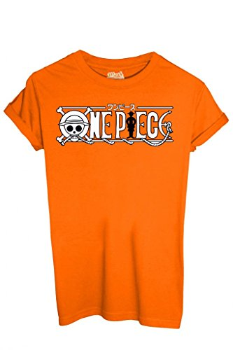 T-Shirt One Piece Rubber Équipage du chapeau de paille - Dessin animé By Mush Dress Your Style Homme-L Orange