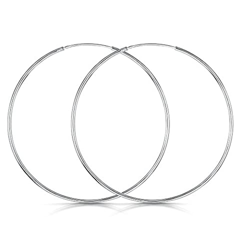 Amberta® 925 Sterling Silver Fine Circle Endless