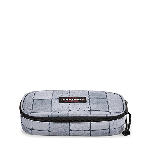 Eastpak Oval Single Trousse, 22 cm, Gris (Cracked White)
