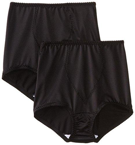 Bali Women's Shapewear Shaping Brief Ultra Control 2-Pack, Black, Large (Kurze Bali Skamp Lacy)
