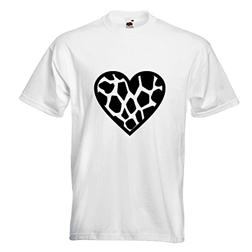 KIWISTAR - Giraffe T-Shirt in 15 verschiedenen Farben - Herren Funshirt bedruckt Design Sprüche Spruch Motive Oberteil Baumwolle Print Größe S M L XL XXL Weiß