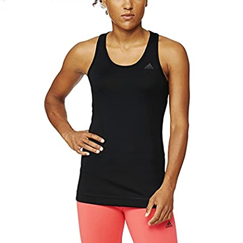 Adidas Girl's Tech Fit Solid T-Shirt - Black/NEGRO, Large