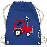 Shirtracer Fahrzeuge Kind - Kinder Traktor - Unisize - Royalblau - WM110 - Turnbeutel und Stoffbeutel aus Bio-Baumwolle