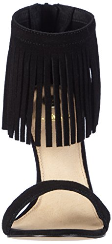 La Strada Black cow suede sandal Damen Offene Sandalen Schwarz (0001 - cow suede black)