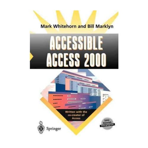 [(Accessible Access 2000 )] [Author: Mark Whitehorn] [May-2004]