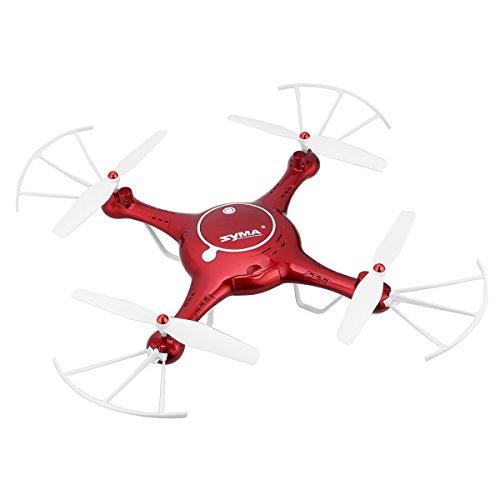 Preisvergleich Produktbild Syma X5UW 2.4G 4CH RC Quadrocopter Drohne (720P Kamera WiFi FPV Echtzeitübertragung, 4G Memory Karte, 3D 360°Flip, High-Hold, Headless-Modus, Built-in 6-Achsen Gyro )+ 1 Satz freier Props