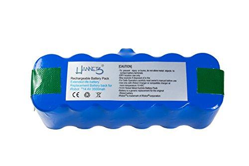 Roomba x-life batería 3500 mAh apta para la 500, 600, 700 y 800 series de iRobot y iRobot Scooba 450 de Hannets®