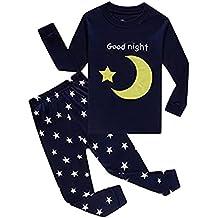 """Babygp dos conjuntos de pijama de """"estrellas y naves espaciales"""" para los Niños de algodón 100% (2-10 años)"""
