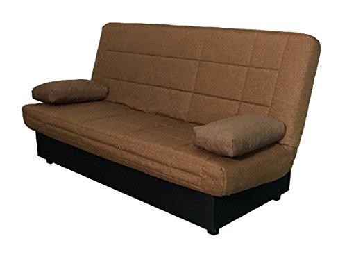 Abitti Sofá Cama Color marrón Sistema abatible fácil con arcón y somier...
