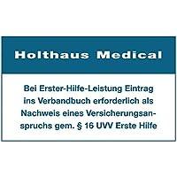Holthaus Medical Aufkleber Eintrag Verbandbuch Hinweis, 60x100 mm preisvergleich bei billige-tabletten.eu