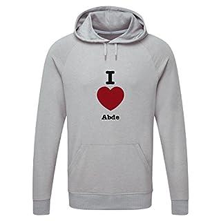 The Grand Coaster Company I Love Abde Light Grey Hooded Sweatshirt XXL