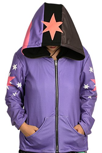 Mädchen Winter Hoodie Lila Reißverschluss Kapuzenpullover Mantel Mit Kapuze Kleidung Cosplay Kostüm (My Little Pony Twilight Hoodie Mädchen)