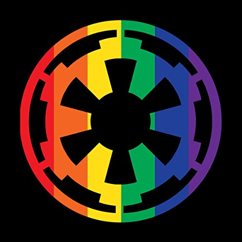 Star Wars Rogue One Empire Rainbow Logo Men's T-Shirt Black