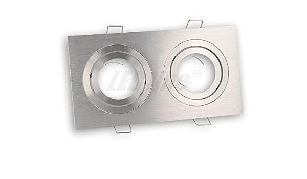 LED Deckenspot SILBER Rund Glas Deckenstrahler ideal f/ür GU10 LED Lampen GU10 Fassung LED Einbaustrahler