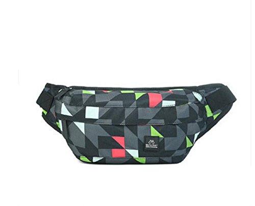 ZYT Herren Brust Tasche Herren outdoor Sport Tasche Mann Bag Crossbody-Sport und Freizeit-Tendenzen-Pakets red check