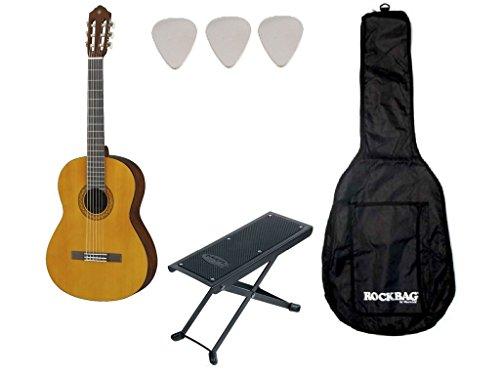Pack Yamaha C40–Klassische Gitarre (+ Tasche, Fußstütze)