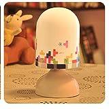 Einfache moderne kreative Tischlampe, Schlafzimmer Bedside Home Night Light, 9X9X18Cm, Tetris
