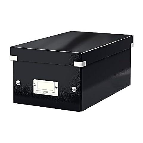 Leitz Boîte de Rangement pour DVD, Noir, Click & Store, 60420095