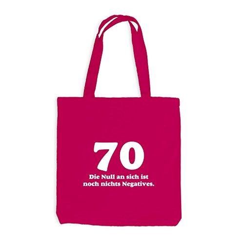 Borsa Di Juta Compleanno 70 Anni Lo Zero Non E Nulla Di Negativo