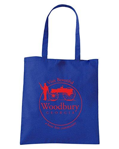 T-Shirtshock - Borsa Shopping FUN0276 11 22 2012 Woodbury Georgia T SHIRT det Blu Royal