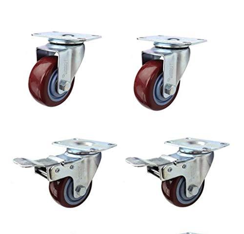 2,5/3 Zoll Jujube Mute Nylon Universal Caster Polyurethan Wagen Caster (Vier Packungen) (Stahl-kugel Caster)