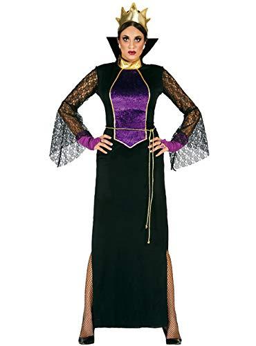 Guirca Kostüm Grimilde Regina Hexe Schneewittchen, Farbe Schwarz, Violett, Unikat, 80951