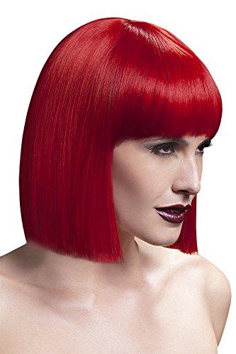 Fever Damen Kurzer Blunt Haarschnitt Perücke mit Pony, 30 cm, Lola Perücke, Rot, One Size, 42496