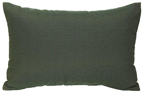 Gartenstuhl-Kissen Rückenkissen Zierkissen Querstreifen Struktur dunkelgrün für Lounge Gruppen ca. 60 x 40 cm