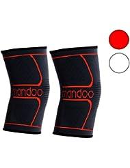 Profi atmungsaktive Kniebandage für mehr Stabilität zum Schutz vor Verletzungen– Aktiv-Bandage für Sport, nach Operationen, zum Auskurieren und Schmerzlindernd –Kompressionsbandage – 2 Jahre Garantie