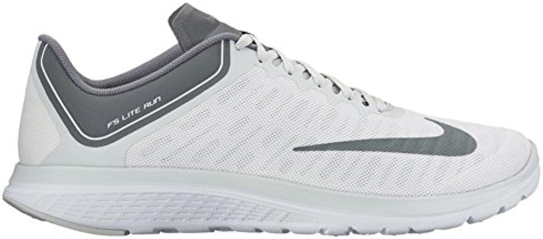 Nuevo Nike Men's FS Lite Run 4 Zapato blanco / Cool Grey 8.5