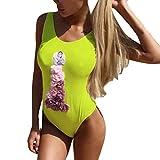 Luckycat Greenway Maho - Parte Superior del Bikini con Estampado Floral para Mujer Tops de Bikini Trajes de Baño Mujer 2019 Sexy Push-up Acolchado Bra Bikini Verano Trajes de Baño