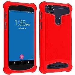 """AccessOne Coque Universelle Smartphone Etui Housse Pochette Compatible pour KLIPAD V356 / V356B / V3556 (5"""" Pouces ecran18:9) (Coque Rouge)"""